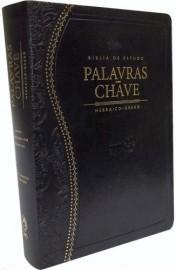Bíblia de Estudo Palavra Chave Luxo Preta Clássica
